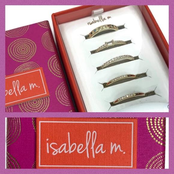 Isabella M. Size 8 Ring Set Gold Plated Box Set 5